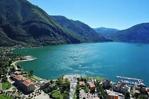 Porlezza aan het Meer van Lugano