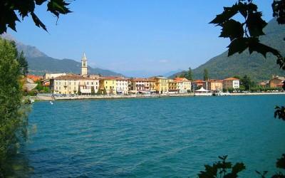 Porlezza aan het Meer van Lugano in Noord-Italie